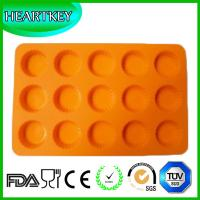 Quality 15 Circle Holes Silicone Cake Chocolate Soap Pudding Jelly Candy Ice Cookie Biscuit Mold for sale