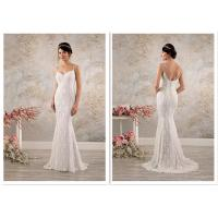 Embroidery Decorative Fit And Flare Wedding Gown For Slim Girls And Woman