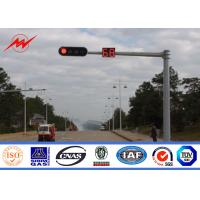 Best 6m Traffic Light Pole Durable Single Arm Signal Road Light Pole With Anchor Bolts wholesale