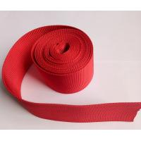 Quality Red Polyester Hollow Webbing Textile Webbing For Heavy Industry Machinery for sale