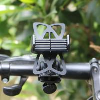 Best Mobile Phone Bike Mounted Holder GPS Stand Cradle with Silisone Support Band wholesale