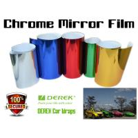 Quality Chrome Mirror Car Wrapping Vinyl Film 3 layers - Chrome Rose Red for sale