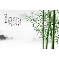 Quality High Glossy Surface Bamboo Fiber Wall Panels Verdant Bamboos Pattern for sale