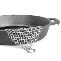 Buy cheap 10mm circle stainless seel Chainmail Scrubber with hang part,cast iron cookware scrubber-best choice for cooking person. from wholesalers
