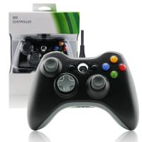 Quality Black XBOX 360 Game Controller Slim Wired Joystick ABS Material Comfortable Button for sale