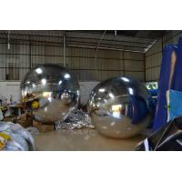 Quality Charming Sport Helium Advertising Balloons Mirrored Inflatable Round Ball for sale