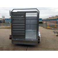 Double Axle Cattle Crate Trailer With An Extra Wheel / Hydraulic Brake Drum