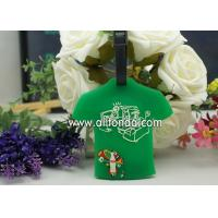 Buy cheap T-shirt shape pvc luggage tag custom personalized fashion boarding travel from wholesalers