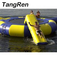 Quality Factory Direct Sale Water Park Inflatable Water Trampoline With Slide for sale