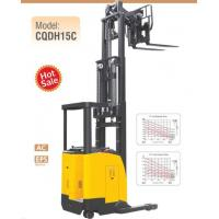 Quality Electric Seated Reach Truck Forklift 1.5 Ton Load Capacity With Double Scissor for sale