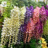 Best UVG 110cm faux floral arrangements long shoot wisteria silk flowers for wedding decoration WIS016 wholesale
