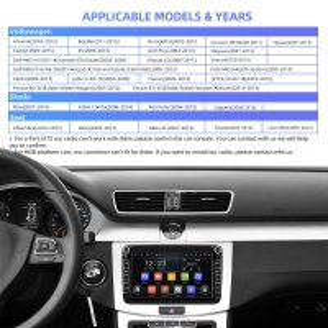 Quality Skoda Golf Polo Car GPS Navigation Auto Radio 2 Din HD QLED 1280*720P for sale