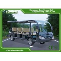 Quality Green / Black Rustproof Body electric sightseeing bus tour 1 year Warranty for sale