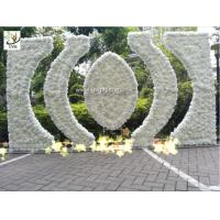 Quality UVG indian wedding flower arch in artificial rose and hydrangea for stage backdrop decoration CHR1146 for sale