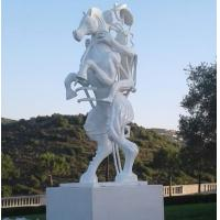 Quality White painting Abstract bronze sculptures, bronze horse with figure statues , China sculpture supplier for sale