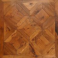 Quality American Hickory Vienna pattern parquet flooring for sale