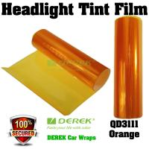 Quality Car Headlight Tint Film 3 layers 0.3*10m/roll - Orange for sale
