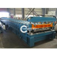 China Mexico Profile Galvanized Sheet Floor Deck Roll Forming Machine 6-8m / Min Speed on sale