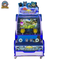 Buy cheap Double Shot Dazzling Pictures 3D Coin Operated Game Machine from wholesalers