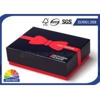 Best Custom Printed Rigid Paper Gift Box Blister Plastic Tray with Red Liner wholesale