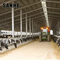 Quality cheap prefab steel structure dairy cow shed / steel metal building for sale