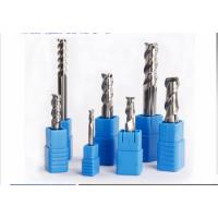 Quality Alumium Uncoated 3 Flute End Mill Use For Cutting , Small End Mill Long Life for sale
