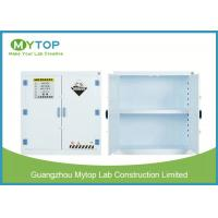 Quality White Hazardous Chemical Storage Cabinet , Hospital Chemical Storage Cupboard for sale