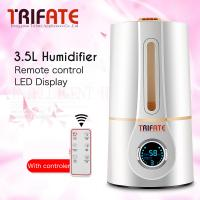 China Humidifier White Ultrasonic Timing Water Shortage LED Display Temperature and Humidity Display Remote Control Humidifier on sale