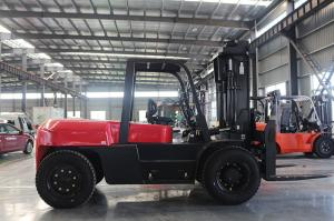 Quality Duplex 7M Lift Height Road Construction Machinery 10T Diesel Forklift for sale