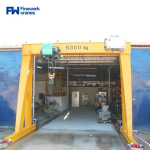 Quality MH Box Type 6.3ton Single Girder Gantry Crane For Workshop for sale