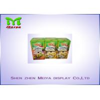 Quality Recyclable F flute cardboard retail displays for snack , display cardboard boxes for sale