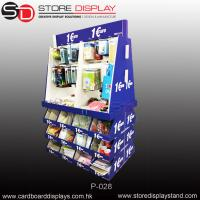 Quality corrugated display PDQ pallet display stand with hooks and compartments for sale