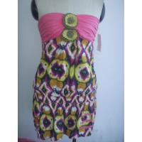 Quality Womens Sexy Dress With Printing Design , Cute Party Dresses for sale
