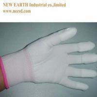 Quality ESD Nylon Fingertip Coating Glove for sale