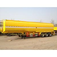 Quality 45 M3 Three Axles Oil Tank Small Semi Trailer Truck Yellow And White Color for sale