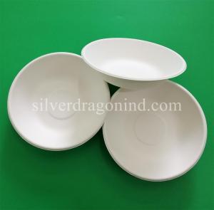Best Biodegradable Disposable Sugarcane Pulp Paper Bowl, Food Grade, 460ml wholesale