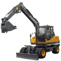 Quality Best 7.5ton Mini Hydraulic Excavator New Cheap With Eight Wheels For Sale for sale