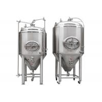 Quality Silver Stainless Steel 304 / 316L Conical Beer Fermenter With 1000l Capacity for sale