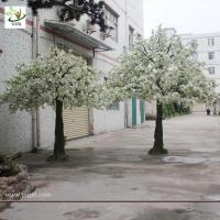 Best UVG artificial white cherry flower trees for indoor wedding decoartion 12ft tall CHR023 wholesale