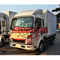 Quality Closed Box Cargo Transport Truck 8 - 10 Tonsloading Capacity 6 Wheels for sale