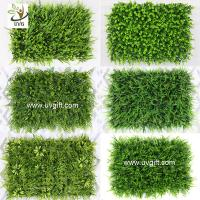 Best UVG indoor and outdoor plastic boxwood mat artificial grass for walled garden decoration GRS12 wholesale