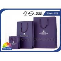 Best Large / Medium / Small Custom Paper Shopping Bags with Handles , Reusable Shopping Bag wholesale