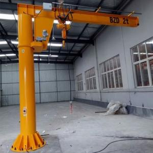 Quality Warehouse Lightweight Slewing Type Electric Jib Crane for sale