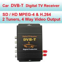 Quality MPEG-4 / H.264 DVB-T In Car Digital TV Receiver Aluminium Alloy Material for sale