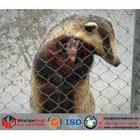 China Zoo Mesh, Stainless Steel Wire Rope Mesh, Woven Wire Cable Net, Animal Enclosure on sale