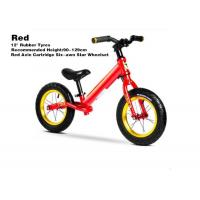 """Quality 12""""  High Quality Aluminum Kids Balance Bike No Pedal Toys On Bike With Red Axis Cartridge Hub Wheelsets Red for sale"""