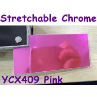 Quality Stretchable Chrome Mirror Car Wrapping Vinyl Film - Chrome Pink for sale