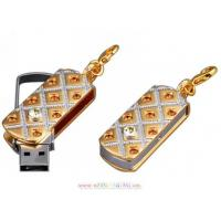 China Metal  Shaped Jewelry diamond USB Flash Drive on sale