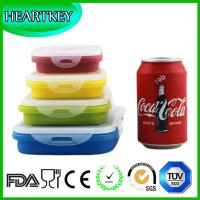 Quality Silicone Product Silicone Foldable Lunch Box/Silicone Collapsible Lunch Box/Silicone Food for sale