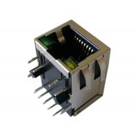 Buy cheap LED 1500Vmrs RJ45 Modular Jack , XFGIG8M-CAGY1-4MS With 1000M Transformer from wholesalers